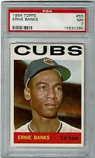 1964 Topps #55 Ernie Banks Chicago Cubs PSA 7 NM