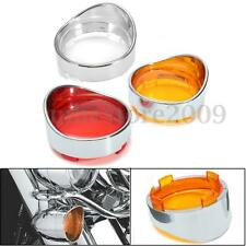 2x Turn Signal Indicator Light Len Visor Ring Kit Cover For Harley Dyna Softail