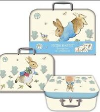 Peter Rabbit Suitcase Style Storage Or Gift Boxes - Set Of 3