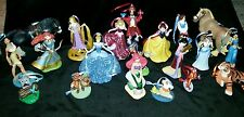 Disney Princess Deluxe Christmas Ornament 20 piece set glitter Cinderella Belle