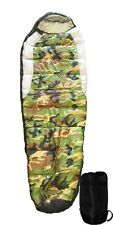 Adult Mummy Type Camping Sleeping Bag with Carrying Case - Camo and Black