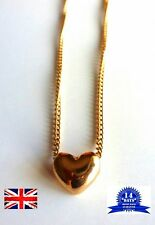 Love Heart Necklace Beautiful Jewellery Pendant Golden Tone Heart Perfect Gift