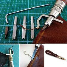 5 In 1 DIY Leather Adjustable Stitching Groover Crease Leather Tools Lot Set Kit