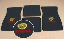 901-Duster Plymouth Duster Black Red Loop Floor Mats With Embroidered Logo