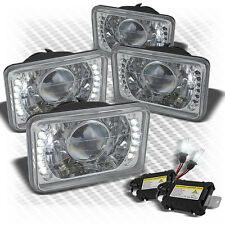 For (Set Of 4) 4x6 Pro Headlights w/Super-Bright LED Built-In+Slim HID Kit