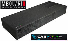 MB Quart QB410A Amplified Active Subwoofer Bass Box Shallow Slim Sub Amp Car New