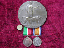 Mercantile Marine Replica Copy WW1 Casualty Group -Medals & Memorial Plaque