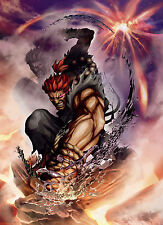 Akuma - Street Fighter - Wall Poster  - 22 in x 34 in - HUGE - FAST SHIPPING