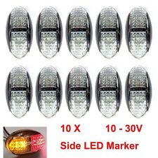 10X 12V 24V DC AMBER RED CLEARANCE LIGHTS SIDE MARKER LED FOR TRAILER TRUCK BUS