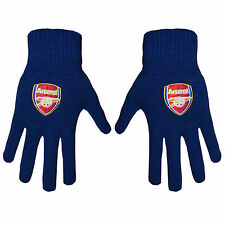 Arsenal FC Official Football Gift Knitted Gloves Navy