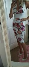 Bnwt sexy floral pencil dress size 14 summer holiday wedding party club celeb
