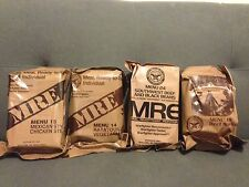 MRE Meal Ready-To-Eat: Sealed Lot of 4. Menu 14 15 18 24 Authentic Military