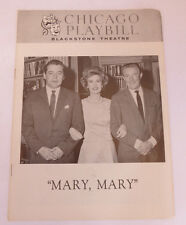 "VINTAGE 1963 ""Mary,Mary""~ Julia Meade-Scott Mckay-Tom Helmore CHICAGO PLAYBILL"