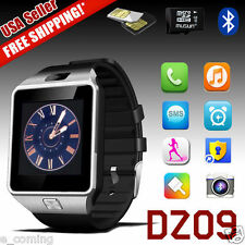Silver DZ09 Bluetooth Smart Watch GSM SIM For iPhone Samsung Android Phone Mate