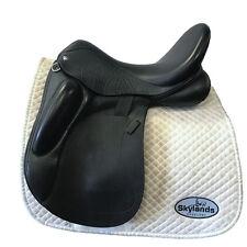Used Custom Saddlery Wolfgang Solo Monoflap Dressage Size 17.5'' Black