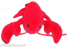 Dakin LUCAS the Lobster Hand Puppet Red Claws Body Stuffed Plush Animal Toy