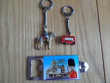 THREE LONDON 1970S/80S KEY RINGS