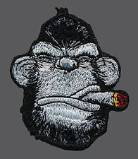 APE CIGAR BEARD DRUNK TACTICAL EMBROIDERED APE MORALE  HOOK LOOP PATCH
