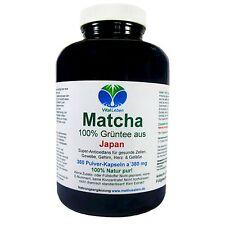 Matcha, 100% Grüntee aus Japan, 360 Pulver-Kapseln a 380mg, #25462