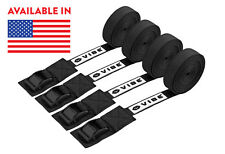 "Four 15' Heavy Duty Nylon 1""Canoe Kayak Surfboard SUP Cam Buckle Tie Down Straps"