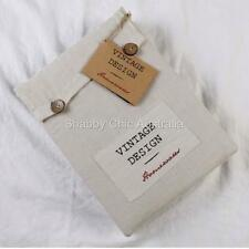 Hampton French Vintage Beige Linen Queen Bed Doona Duvet Quilt Cover &Pillow Set