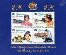 Castles & Palaces - Queen Elizabeth II 70th Birthday Stamp Sheet (1996 GAIRSAY)