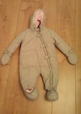 New Baby Girls Bow Snowsuit with Removable Mittens & Booties Age 6/9 Months