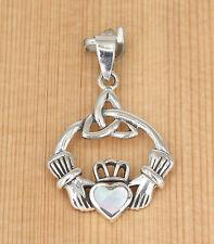 Irisch Anhänger - Silber - Muschel -  Keltische Dreifaltigkeit -  Claddagh