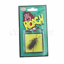 1Pcs New Simulation Funny Fake Rubber Cockroach Cock Roach Bug Roaches Joke Toys