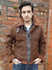 VINTAGE MENS CLASSIC WARM FLEECE LINED LEATHER AIRFORCE STYLE FLYING JACKET M