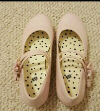 Pink Lolita Bow Platform Shoes size 7