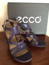 Women's ECCO Wedge Sandals US size 8-8.5 Purple/Indigo color