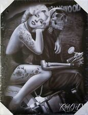 DGA Marilyn Monroe Day of the Dead Stretched Canvas Wall Art Hollywood Homegirl