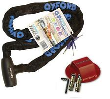 MOTORCYCLE BIKE OXFORD GP STRONG SECURITY CHAIN LOCK 1.5m & GROUND / WALL ANCHOR