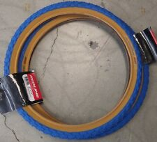 "BICYCLE TIRES 20"" X 1.75"" 20X1.75 blue gum wall Comp III style tread 1 PAIR"
