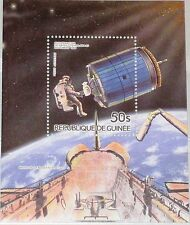 GUINEA 1985 Block 135 A S/S 931 Space Raumfahrt Satellite PALABA B 2 Earth MNH