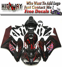 Fairings For Honda CBR1000RR 2004 04 05 ABS Fairing Kit Bodywork Black Red Flame