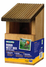 New Gardman Wooden Robin Nest Box Wild Bird Care A02031 Offer!