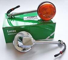 "GENUINE LUCAS INDICATOR x2  5"" STEM 60-4105 BSA A65 NORTON COMMANDO TRIUMPH T140"