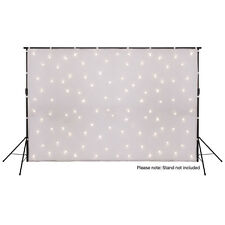 LEDJ White Star Cloth DMX 3m x 2m Backdrop Curtain LED Starcloth Warm White