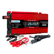 Car power inverter 1000W Solar inverter LCD Display DC 12V to AC 220V