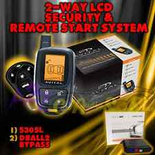 AVITAL 5305 REPLACES 5303 2 WAY REMOTE START CAR ALARM SECURITY 5305L + DBALL2