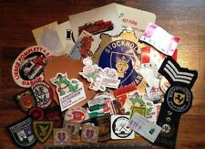 RARE! FIREMAN FIRE DEPARTMENT PATCHES & DECAL STICKER Lot FOREIGN COUNTRIES
