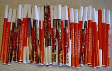 Misprint Pens Nice writing! Clip On Covered THIN BULK D LOT of 100