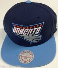 NBA Charlotte Bobcats Mitchell and Ness 2 Tone Snapback Cap Hat M&N NEW!