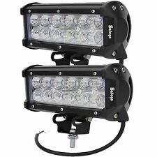 2X 36W Cree LED Work Light Bar Flood Beam Offroad Driving Truck Boat UTE SUV 4WD