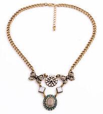 Exquiste Anthropologie Leona Bowtie Gemmed Chain Necklace