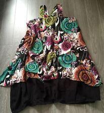 Robe  boule- Création -Lin et voile de coton .Taille Unique