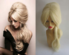 DELUXE LONG BLONDE WAVY DRAG QUEEN BEEHIVE BIG HAIR HEAT RESISTANT WIG