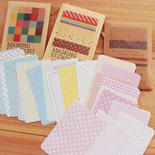 27Pcs Decorative Washi Masking Tape Craft Stickers Pack Labelling Scrapbooking